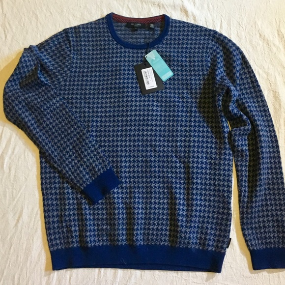 1e67e8c08ddd Ted Baker London Men s Houndstooth Sweater - L